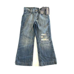 New IKKS Girls Jeans Distressed NWT $99 Youth Size